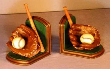 Baseball Glove Bookends<br>ONLY 1 SET LEFT!