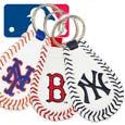 Baseball Seam Keychains<br>MLB Teams & Players
