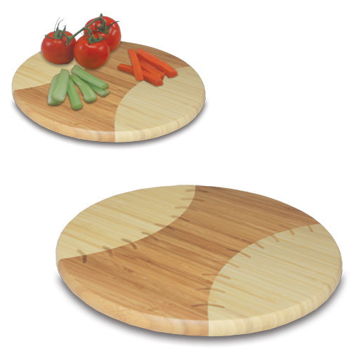 Baseball Shaped Bamboo Cutting Board