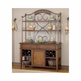 Dark Chestnut Villagio Server And Hutch - Hillsdale