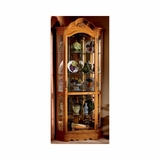 Wilshire Corner Curio Cabinet in Golden Oak - Howard Miller