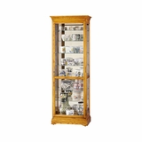 Chesterfield II Curio Cabinet in Golden Oak - Howard Miller