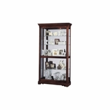 Dublin Curio Cabinet in Windsor Cherry - Howard Miller