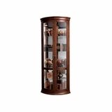 Chancellor Hampton Cherry Corner Curio Cabinet - Howard Miller