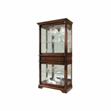 Plantation 2 Door Curio Cabinet with Drawer - Howard Miller