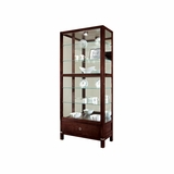 Williamson Curio Cabinet in Espresso - Howard Miller