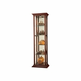 Eden Curio Cabinet in Windsor Cherry - Howard Miller