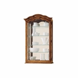 Vancouver II Oak Yorkshire Wall Display Cabinet - Howard Miller