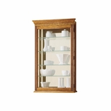 Montreal Golden Oak Wall Curio Cabinet - Howard Miller