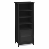 Tuxedo Curio Cabinet - Glass door, 3 Adjustable Shelves, Wire Management - Nexera Furniture