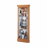 Hammond Corner Curio Cabinet in Golden Oak - Howard Miller