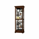 Martindale Cherry Bordeaux Display Cabinet - Howard Miller