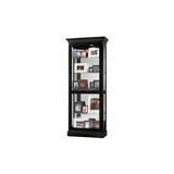 Berends Black Satin Curio Cabinet - Howard Miller