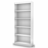 South Shore Axess Pure White Bookcase with Five Shelves - 7250768C