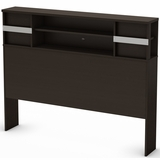 South Shore Step One Full Bookcase Headboard - Chocolate - 3159093