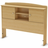South Shore Clever Room Natural Maple Full Bookcase Headboard - 3613093