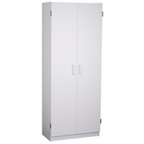 White Kitchen Double Pantry - Ameriwood Industries - 4105