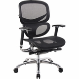 Boss Multi-Function Mesh Chair in Black - B6888-BK