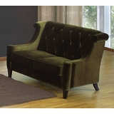844 Barrister Loveseat in Green Velvet - Armen Living - LC8442GREEN