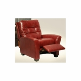 Cooper Cranberry Leather Recliner - Catnapper