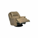 Crosby Leather Recliner in Mushroom - Catnapper