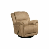 Maverick Chaise Swivel Glider Recliner in Stone - Catnapper