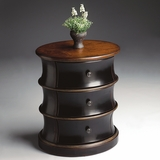 Oval Drum Table in Cafe Noir - Butler Furniture - BT-1588104