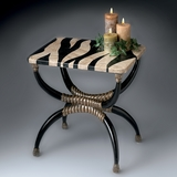 Accent Table with Zebra Pattern Stone Top - Butler Furniture - BT-2343070