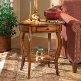 Oval Accent Table in Olive Ash Burl - Butler Furniture - BT-0532101
