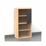 Infini-T 1 Door 4 Shelf Bookcase in Biscotti - Nexera Furniture