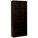 Essentials Espresso 72 Tall Bookcase with 5 Shelves - Nexera Furniture