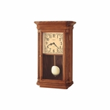 Pennington Chiming Wall Clock in Oak Yorkshire - Howard Miller