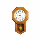 Elliot Golden Oak Wall Clock - Howard Miller