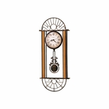 Devahn Wrought Iron Wall Clock in Antique Bronze - Howard Miller