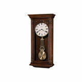 Greer Chiming Wall Clock in Hampton Cherry - Howard Miller