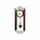 Carmen Wrought Iron and Wood Wall Clock - Howard Miller