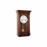 Alcott Wall Clock in Windsor Cherry - Howard Miller