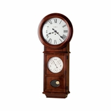 Lawyer II Chiming Wall Clock in Windsor Cherry - Howard Miller