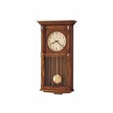 Ashbee II Wall Clock in Heritage Oak - Howard Miller