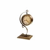 Jenkins Antique Brushed Brass Table Clock - Howard Miller