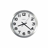 Spokane Wall Clock in Brushed Aluminum - Howard Miller