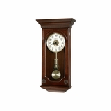 Jasmine Wall Clock - Distressed Hampton Cherry - Howard Miller