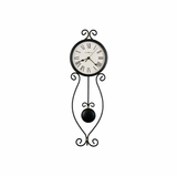 Ivana Pendulum Wall Clock in Antique Black - Howard Miller