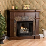 Cartwright Espresso Gel Fireplace - Holly and Martin