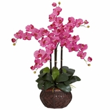 Phalaenopsis with Decorative Vase Silk Flower Arrangement - Nearly Natural - 1211-DP