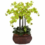 Large Phalaenopsis Silk Flower Arrangement - Nearly Natural - 1201-GR