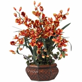 Large Cymbidium Silk Flower Arrangement - Nearly Natural - 1199-BG