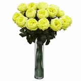Fancy Rose Silk Flower Arrangement - Nearly Natural - 1219-YL