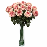 Fancy Rose Silk Flower Arrangement - Nearly Natural - 1219-PK