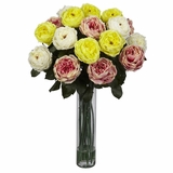 Fancy Rose Silk Flower Arrangement - Nearly Natural - 1219-AP